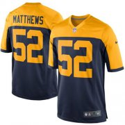 Wholesale Cheap Nike Packers #52 Clay Matthews Navy Blue Alternate Youth Stitched NFL New Elite Jersey