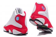 Wholesale Cheap Air Jordan 13 Retro Shoes White/Grey Toe-fire red