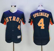 Wholesale Cheap Astros #4 George Springer Navy Blue Flexbase Authentic Collection Stitched MLB Jersey