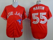 Wholesale Cheap Blue Jays #55 Russell Martin Red Canada Day Stitched MLB Jersey