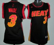 Wholesale Cheap Miami Heat #3 Dwyane Wade Vibe Black Fashion Womens Jersey