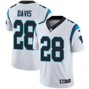 Wholesale Cheap Nike Panthers #28 Mike Davis White Men's Stitched NFL Vapor Untouchable Limited Jersey