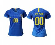 Wholesale Cheap Women's Brazil Personalized Away Soccer Country Jersey