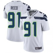 Wholesale Cheap Nike Seahawks #91 Jarran Reed White Men's Stitched NFL Vapor Untouchable Limited Jersey