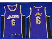 Wholesale Cheap Nike Los Angeles Lakers #6 LeBron James Purple NBA Swingman Statement Edition Jersey