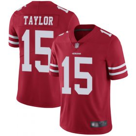 Wholesale Cheap Nike 49ers #15 Trent Taylor Red Team Color Men\'s Stitched NFL Vapor Untouchable Limited Jersey