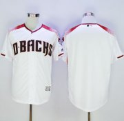 Wholesale Cheap Diamondbacks Blank White/Brick New Cool Base Stitched MLB Jersey