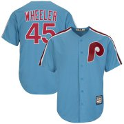 Wholesale Cheap Phillies #45 Zack Wheeler Light Blue New Cool Base Cooperstown Stitched MLB Jersey
