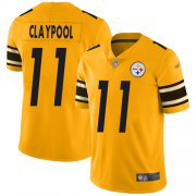 Wholesale Cheap Nike Steelers #11 Chase Claypool Gold Youth Stitched NFL Limited Inverted Legend Jersey