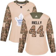 Wholesale Cheap Adidas Maple Leafs #44 Morgan Rielly Camo Authentic 2017 Veterans Day Women's Stitched NHL Jersey