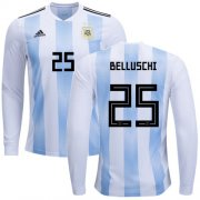 Wholesale Cheap Argentina #25 Belluschi Home Long Sleeves Soccer Country Jersey