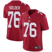 Wholesale Cheap Nike Giants #76 Nate Solder Red Alternate Men's Stitched NFL Vapor Untouchable Limited Jersey