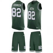Wholesale Cheap Nike Jets #82 Jamison Crowder Green Team Color Men's Stitched NFL Limited Tank Top Suit Jersey