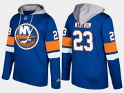 Wholesale Cheap Islanders #23 Bob Nystrom Blue Name And Number Hoodie