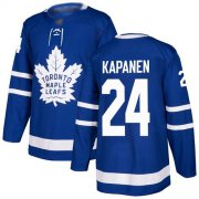 Wholesale Cheap Adidas Maple Leafs #24 Kasperi Kapanen Blue Home Authentic Stitched NHL Jersey