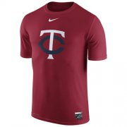 Wholesale Cheap Minnesota Twins Nike Authentic Collection Legend Logo 1.5 Performance T-Shirt Red