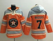 Wholesale Cheap Astros #7 Craig Biggio Orange Sawyer Hooded Sweatshirt MLB Hoodie