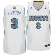 Wholesale Cheap Denver Nuggets #3 Ty Lawson White Swingman Jersey
