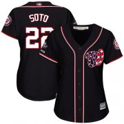Wholesale Cheap Nationals #22 Juan Soto Navy Blue Alternate 2019 World Series Champions Women's Stitched MLB Jersey
