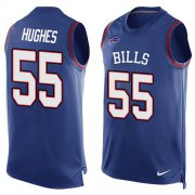 Wholesale Cheap Nike Bills #55 Jerry Hughes Royal Blue Team Color Men's Stitched NFL Limited Tank Top Jersey