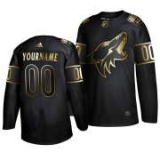 Wholesale Cheap Adidas Coyotes Custom Men's 2019 Black Golden Edition Authentic Stitched NHL Jersey
