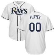 Wholesale Cheap Tampa Bay Rays Majestic Home Cool Base Custom Jersey White