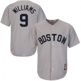 Wholesale Cheap Boston Red Sox #9 Ted Williams Majestic Cool Base Cooperstown Collection Player Jersey Gray