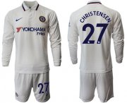 Wholesale Cheap Chelsea #27 Christensen Away Long Sleeves Soccer Club Jersey