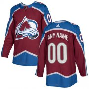 Wholesale Cheap Men's Adidas Avalanche Personalized Authentic Burgundy Red Home NHL Jersey