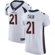 Wholesale Cheap Nike Broncos #21 Aqib Talib White Men's Stitched NFL Vapor Untouchable Elite Jersey