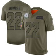 Wholesale Cheap Nike Seahawks #22 Quinton Dunbar Camo Men's Stitched NFL Limited 2019 Salute To Service Jersey