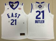 Wholesale Cheap 2015-16 NBA Eastern All-Stars Men's #21 Jimmy Butler Revolution 30 Swingman White Jersey