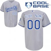Wholesale Cheap Royals Personalized Authentic Grey Cool Base MLB Jersey (S-3XL)