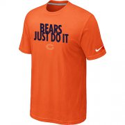 Wholesale Cheap Nike Chicago Bears Just Do It Orange T-Shirt