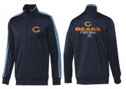 Wholesale NFL Chicago Bears Victory Jacket Dark Blue_2