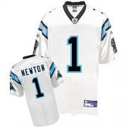 Wholesale Cheap Panthers #1 Cam Newton White Stitched NFL Jersey