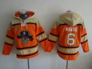 Wholesale Cheap Pirates #6 Starling Marte Orange Sawyer Hooded Sweatshirt MLB Hoodie