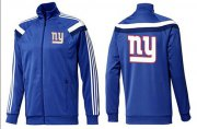 Wholesale Cheap NFL New York Giants Team Logo Jacket Blue_6