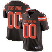 Wholesale Cheap Nike Cleveland Browns Customized Brown Team Color Stitched Vapor Untouchable Limited Men's NFL Jersey