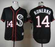 Wholesale Cheap White Sox #14 Paul Konerko Black New Cool Base Stitched MLB Jersey