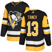 Wholesale Cheap Adidas Penguins #13 Brandon Tanev Black Home Authentic Stitched Youth NHL Jersey