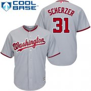 Wholesale Cheap Nationals #31 Max Scherzer Grey Cool Base Stitched Youth MLB Jersey