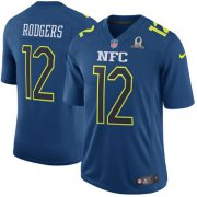 Wholesale Cheap Nike Packers #12 Aaron Rodgers Navy Men's Stitched NFL Game NFC 2017 Pro Bowl Jersey