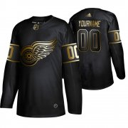 Wholesale Cheap Adidas Red Wings Custom Men's 2019 Black Golden Edition Authentic Stitched NHL Jersey