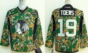 Wholesale Cheap Blackhawks #19 Jonathan Toews Camo Veterans Day Practice Stitched Youth NHL Jersey