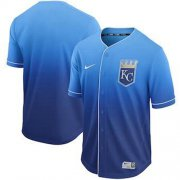 Wholesale Cheap Nike Royals Blank Royal Fade Authentic Stitched MLB Jersey