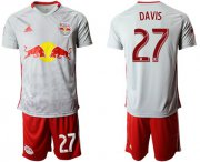 Wholesale Cheap Red Bull #27 Davis White Home Soccer Club Jersey