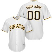 Wholesale Cheap Pittsburgh Pirates Majestic Cool Base Custom Jersey White