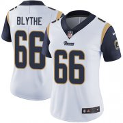 Wholesale Cheap Nike Rams #66 Austin Blythe White Women's Stitched NFL Vapor Untouchable Limited Jersey