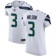 Wholesale Cheap Nike Seahawks #3 Russell Wilson White Men's Stitched NFL Vapor Untouchable Elite Jersey
